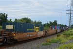 DTTX 765452 - B with CSX Intermodal Container
